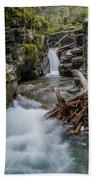 Baring Creek Waterfall And Rapids Bath Towel