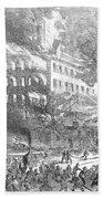 Barnums Museum Fire, 1865 Bath Towel