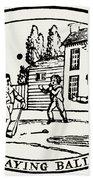 Baseball Game, 1820 Bath Towel