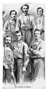 Baseball Teams, 1866 Bath Towel