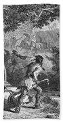 Battle Of Bloody Brook 1675 Hand Towel