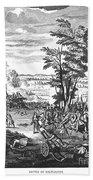 Battle Of Malplaquet, 1709 Bath Towel