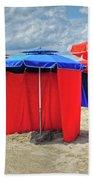 Beach Umbrellas Nice France Bath Towel