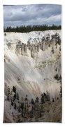 Beautiful Lighting On The Grand Canyon In Yellowstone Bath Towel