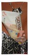 Beautiful Money Box Bath Towel