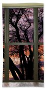 Beautiful Sunset Bay Window View Bath Towel