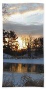 Beautiful Winter Dawn Bath Towel