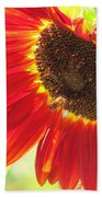 Bee On A Sunflower Bath Towel