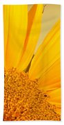 Bee On Sunflower Bath Towel
