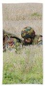 Belgian Paratroopers On Guard Hand Towel