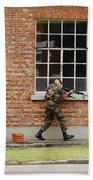 Belgian Soldiers On Patrol Hand Towel