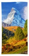 Below The Matterhorn Bath Towel