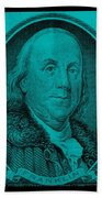 Ben Franklin In Turquois Bath Towel
