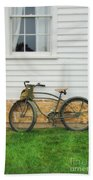 Bicycle By House Bath Towel