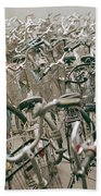 Bicycle Park In Beijing In China Bath Towel