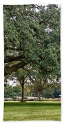 Big Oak And The Tractors Bath Towel