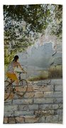Bikes And Bricks Bath Towel