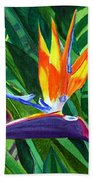 Bird-of-paradise Bath Towel