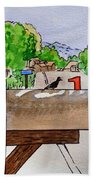 Bird On The Mailbox Sketchbook Project Down My Street Hand Towel