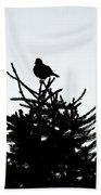 Bird Silhouette  Bath Towel
