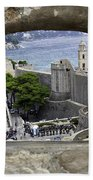 Bird's Eye View Of Dubrovnik Bath Towel