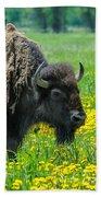 Bison And Friend Bath Towel