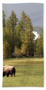 Bison In Yellowstone Bath Towel