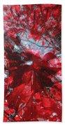 Black And Red Crescendo Bath Towel