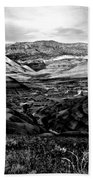 Black And White Painted Hills Bath Towel