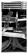 Black And White Steam Engine - Greeting Card Bath Towel