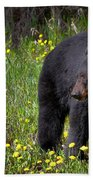 Black Bear Bath Towel