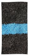 Black Blue Lawn Bath Towel