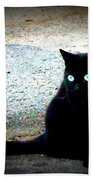 Black Cat Beauty Bath Towel