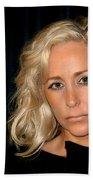 Blond Woman Bath Towel