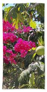 Blossoms And Breadfruit Bath Towel