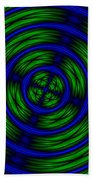 Blue And Green Abstract Bath Towel