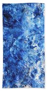 Ocean - Blue Abstract Art Paintingi Hand Towel