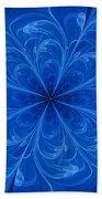 Blue Bloom Bath Towel