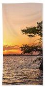 Blue Cypress Lake Sunrise Bath Towel