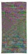 Blue Green Abstract Bath Towel