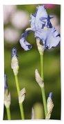 Blue Iris Close Up - Dsc03741 Bath Towel