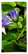 Blue Lilies Bath Towel