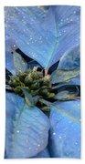 Blue Poinsettia Bath Towel