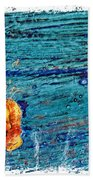 Blue Rusted Steel Painted Background Bath Towel