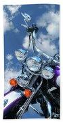 Blue Sky Harley Bath Towel