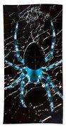 Blue Spider Hand Towel