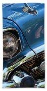 Blue Thunder - Classic Antique Car- Detail Bath Towel