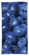Blueberries With Waterdrops Bath Towel