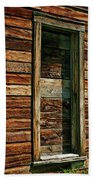 Boarded Doorway Bath Towel