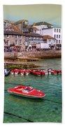 Boats At St Ives  Bath Towel